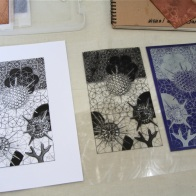 Jane Furst - photo etching print, transparency and plate