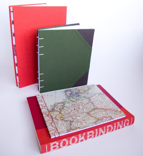 Map and plain cover sketch books bound by Fred Wyver