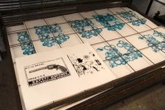 Prints created on a Screen Printing One course