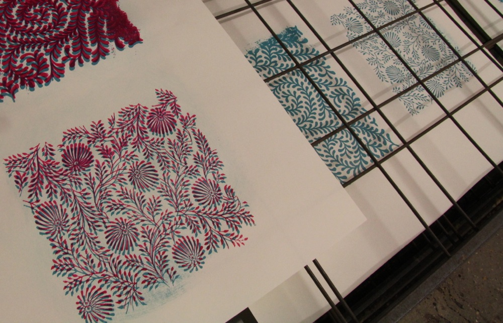 Screen print made from Indian stock imagery
