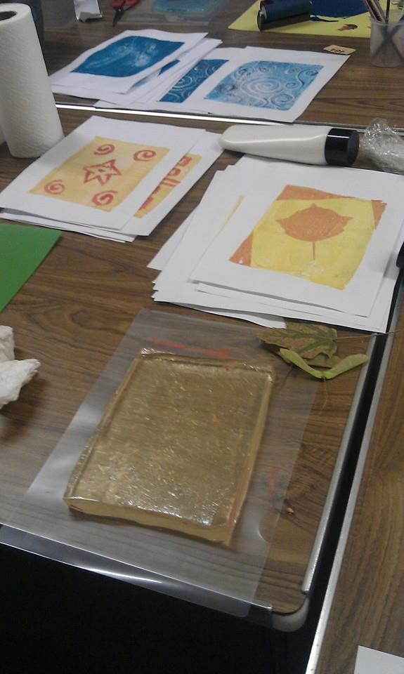 Jelly Printing Medway Fine Printmakers