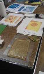 Printing with a slab of gelatine