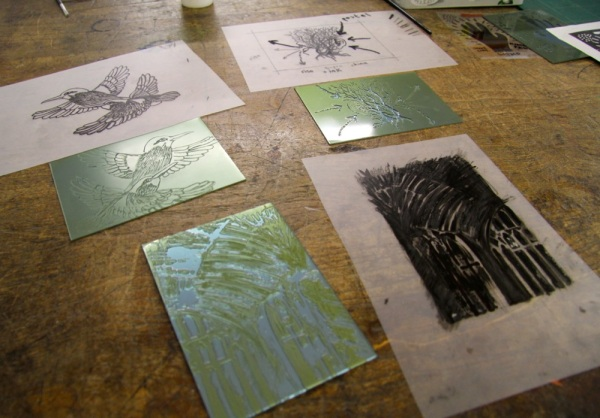 Photopolymer relief plates and transparencies