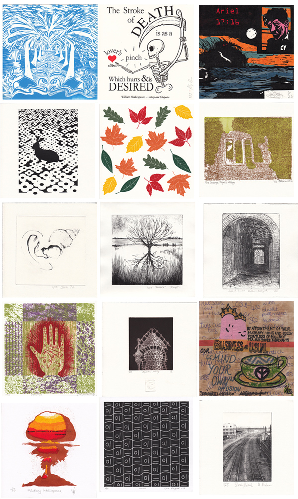Prints for 20:20 by artists at Medway Fine Printmakers