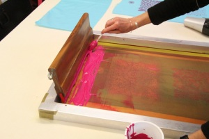 screenprinting on fabric