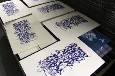 calligraphy screen print