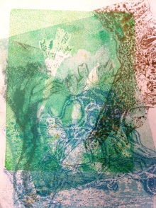gelli print - under the sea