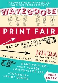 Wayzgoose Print Fair 28 november 2015, 10am - 5pm