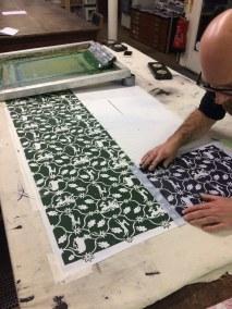 Textile screen printing